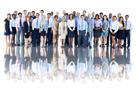 Multiethnic Group of Business People Isolated Imagens
