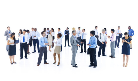 body language: Large Group of Business People Stock Photo