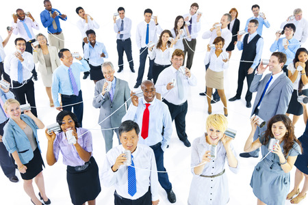 large group of business people: Large Group of Business People Communication