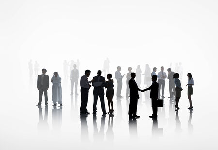large group of business people: large group of business people working together. Stock Photo