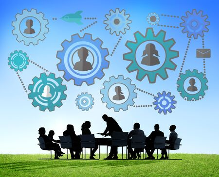 community work: Community Business Team Partnership Collaboration Support Concept Stock Photo