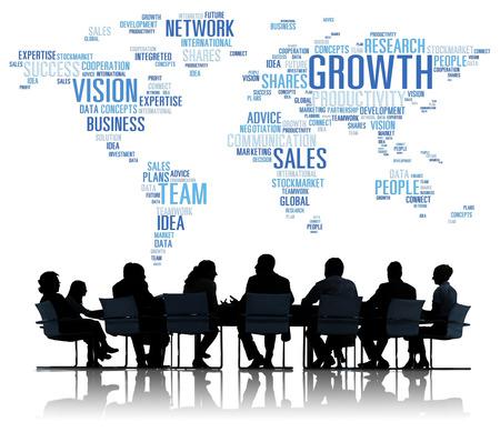 グローバルなビジネスの人々 の会議成功成長コンセプト 写真素材