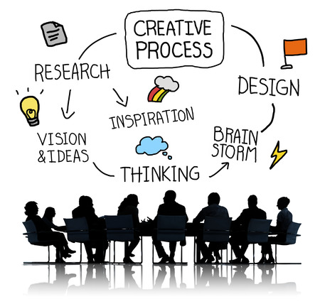 place of research: Creative process concept Stock Photo