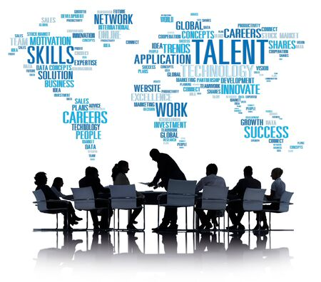 communication capability: Talent Expertise Genius Skills Professional Concept