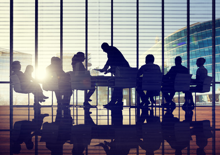 Back Lit Business People Discussion Cityscape Meeting Concept Stok Fotoğraf - 38521473