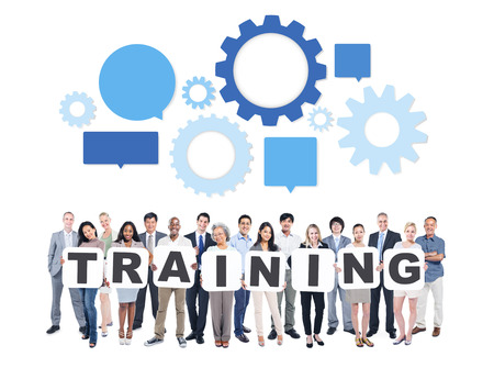 training and development: Training Business People Team Teamwork Success Strategy Concept