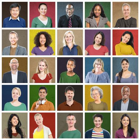 collage caras: Gente Diversos Multi variaci�n �tnica Concepto Casual Foto de archivo