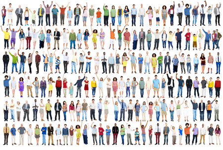 People Diversity Success Celebration Happiness Community Crowd Concept Stockfoto