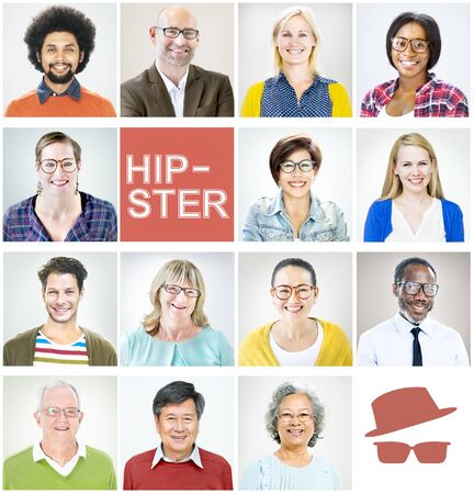 Individuality Portrait Profile Real People Hipster Diversity Concept