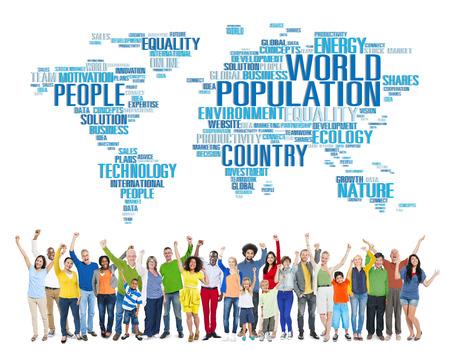 comunidad: Mundial de la Población Mundial Gente Concepto de Comunidad Internacional