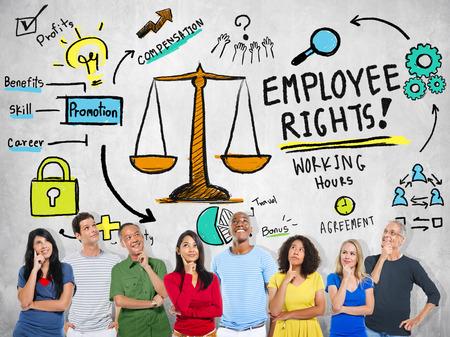 personas pensando: Derechos de los trabajadores Gente igualdad en el empleo empleo Pensamiento Concepto