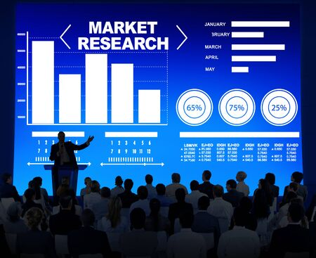 market research: Market Research Business Percentage Research Marketing Strategy Concept Stock Photo
