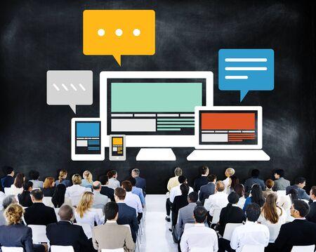 Responsive Design Internet Communication Technology Concept photo