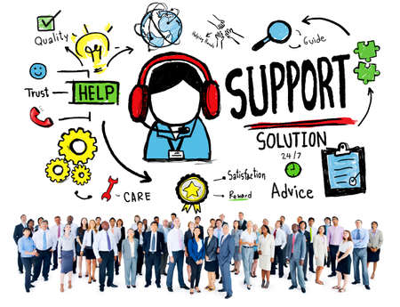 customer support: Support Solution Advice Help Care Satisfaction Quality Concept