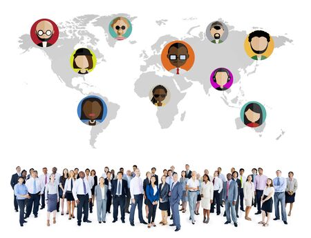Global Community Wereld Mensen Social Networking Connection Concept