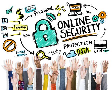 secret society: Online Security Protection Internet Safety Hands Volunteer Concept