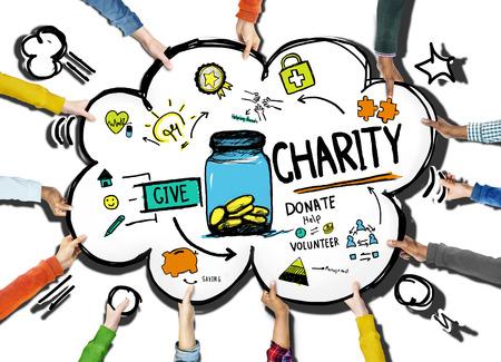 Hulp Vrijwilliger steun te geven Help doneren Charity Concept