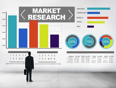 Market Research Business Percentage Research Marketing Strategy Concept photo