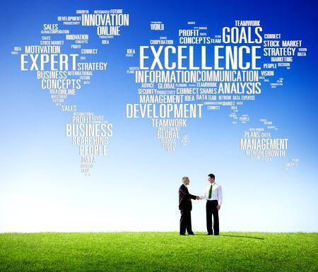 szakvélemény: Excellence Szakértelem Perfection Global Growth Concept