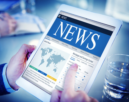 latest news: News Update Latest Information Headline Media Article Concept