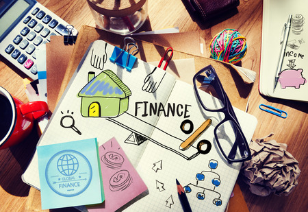 contabilidad: Finanzas Contabilidad Adhesivo Nota Banca Econ�mico Business Concept