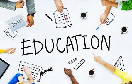 Groep van mensen uit het bedrijfsleven planning Onderwijs Discussion Project Concept