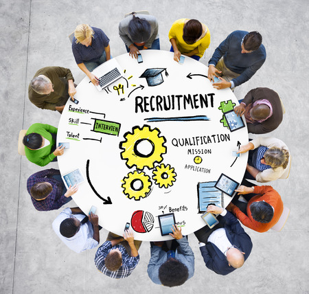 recruiting: Ethnicity Business People Communication DIscussion Recruitment Concept
