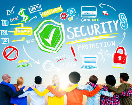 security protection: Ethnicity People Team Togetherness Security Protection Concept