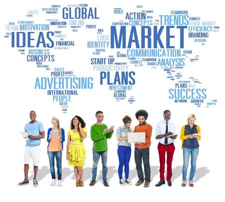 Market Business Global Business Marketing Commerce Concept photo