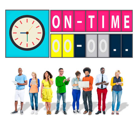 On Time Punctual Efficiency Organization Management Concept photo