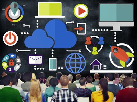 Big Data Sharing Online Global Communication Cloud Concept photo