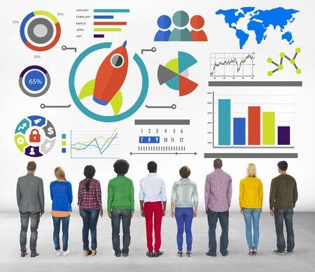 New Business Chart Innovation Teamwork Global Business Concept photo