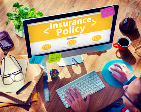 a place of life: Insurance Policy Protection Risk Security Concepts Stock Photo