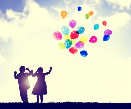 어린이 자유 행복 상상 순수 개념