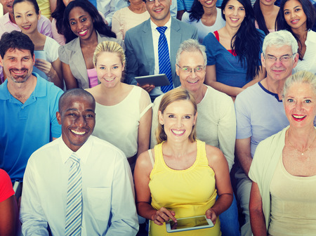 diverse people: Casual Group Diverse People Social Convention Audience Concept