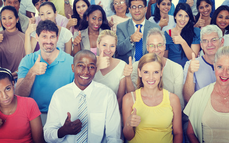 Thumbs Up People Diversity Multiethnic Group Concept