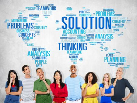 new thinking: Solution Solve Problem Strategy Vision Decision Concept