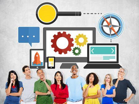 Search Engine Optimization Online Technology Web Concept photo