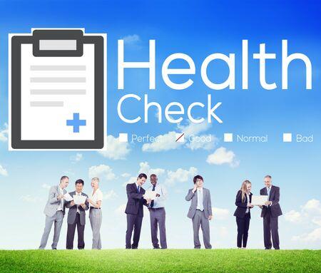 Health Check Diagnose Medisch Conditie Analyse Concept