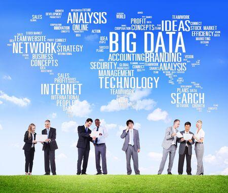 data: Big Data Storage Information World Map Concept