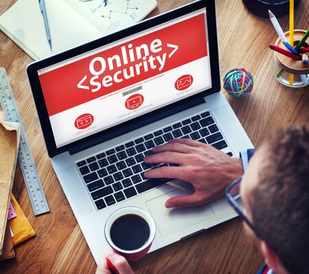 Digital Online Business Security Network Working Concept photo