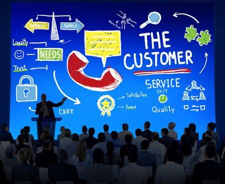 target business: The Customer Service Target Market Support Assistance Concept