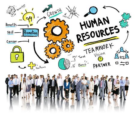 recursos humanos: Recursos Humanos Empleo Trabajo en equipo del asunto Concepto Corporativa Foto de archivo