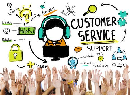 Service à la clientèle Assistance Service Aide Guide Concept Banque d'images