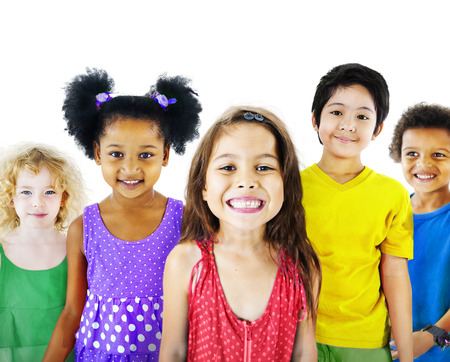 ethnicity: Ethnicity Diversity Gorup of Kids Friendship Cheerful Concept