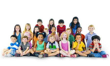 innocence: Diversity Childhood Children Happiness Innocence Friendship Concept