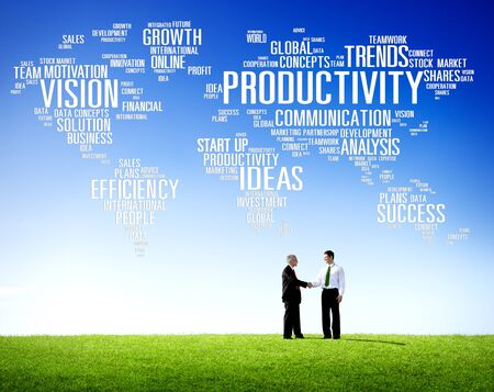 team vision: Productivity Mission Strategy Business World Vision Concept