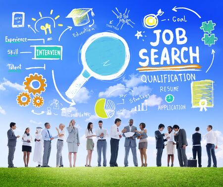 Business People Discussion Aspiration Job Search Concept photo