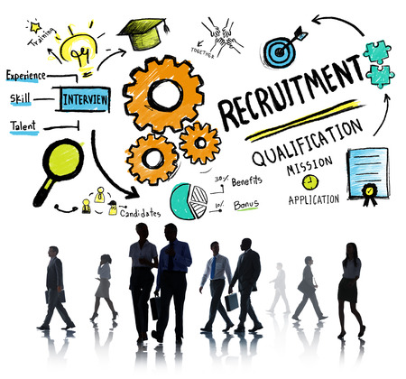 qualification: Business People Walking Recruitment Qualification Concept Stock Photo