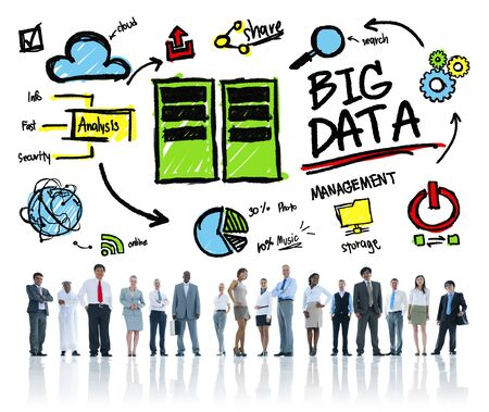 big data: Diversity Business People Big Data Corporate Concept
